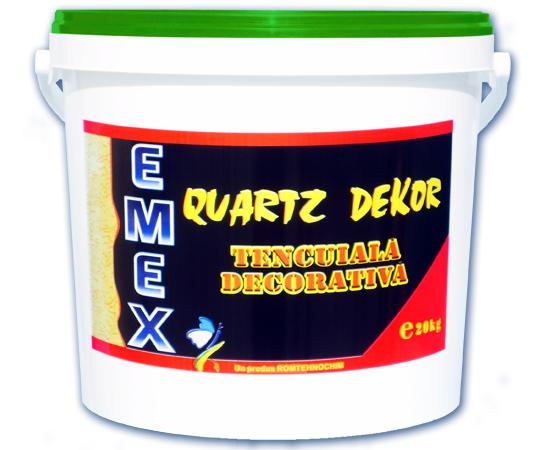 Tencuiala Decorativa Acrilica Sau Siliconica.Tencuiala Decorativa Structurata Emex Quartz Dekor